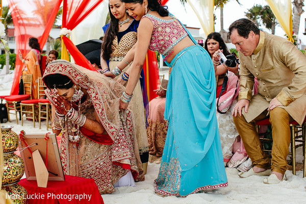 Beautiful indian bride. in Playa del Carmen Playa del Carmen Destination Indian Wedding by Ivan Luckie Photography