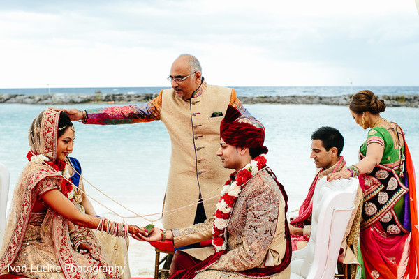 Indian bride and groom. in Playa del Carmen Playa del Carmen Destination Indian Wedding by Ivan Luckie Photography
