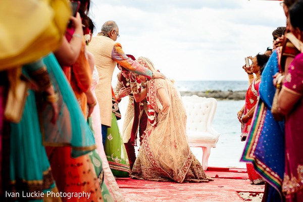 Outdoor Indian wedding ceremony. in Playa del Carmen Playa del Carmen Destination Indian Wedding by Ivan Luckie Photography