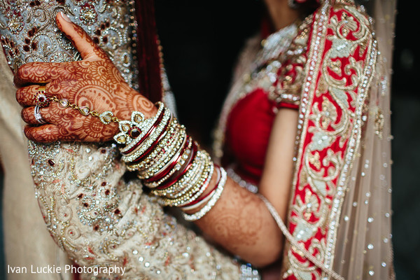 Indian bride and groom close up portrati. in Playa del Carmen Playa del Carmen Destination Indian Wedding by Ivan Luckie Photography