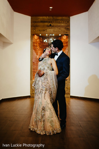 Elegant  Indian wedding reception photo shoot. in Playa del Carmen Playa del Carmen Destination Indian Wedding by Ivan Luckie Photography