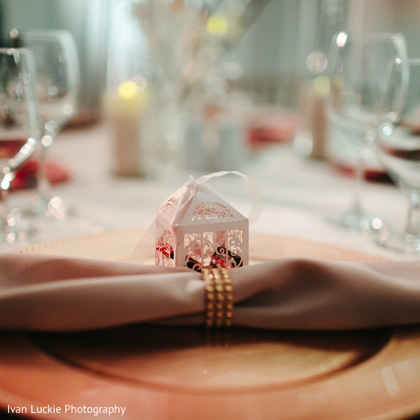 Indian wedding reception favor and decoration. in Playa del Carmen Playa del Carmen Destination Indian Wedding by Ivan Luckie Photography