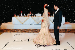 Indian bride and groom first dance.