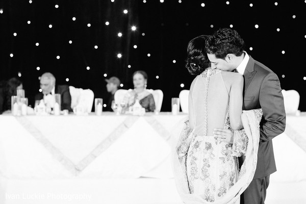 Indian bride and groom slow dancing in Playa del Carmen Playa del Carmen Destination Indian Wedding by Ivan Luckie Photography
