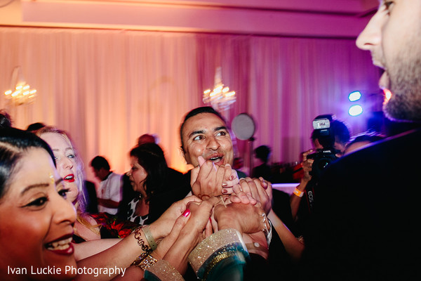 Indian wedding reception. in Playa del Carmen Playa del Carmen Destination Indian Wedding by Ivan Luckie Photography