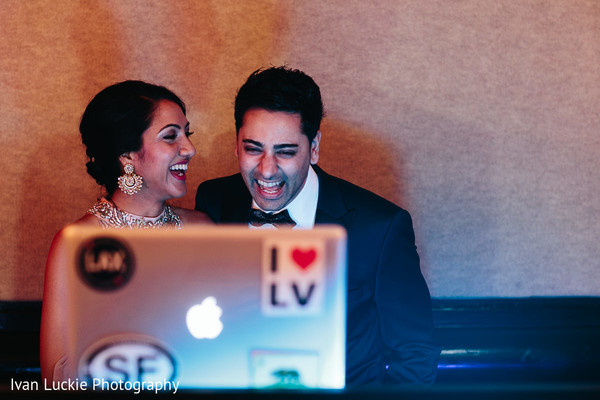 Indian bride and groom smiling. in Playa del Carmen Playa del Carmen Destination Indian Wedding by Ivan Luckie Photography