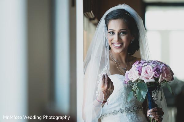 Indian Bridal Portrait in Dallas, TX Indian Fusion Wedding by MnMfoto Wedding Photography