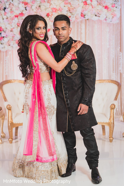 Bride and Groom Portrait in Dallas, TX Indian Fusion Wedding by MnMfoto Wedding Photography