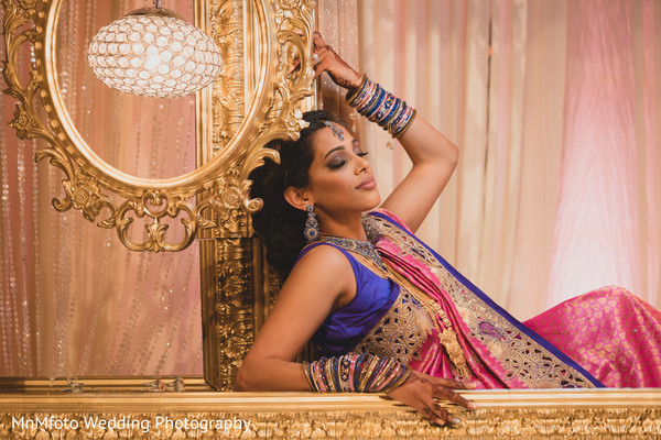 Indian Bridal Portrait in Dallas, TX Indian Fusion Wedding by MnMfoto Wedding Photography