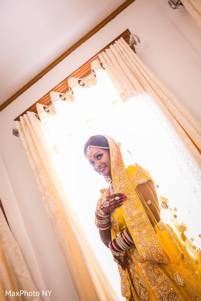 Indian bridal portrait in Richmond Hill, NY Indian Wedding by MaxPhoto NY