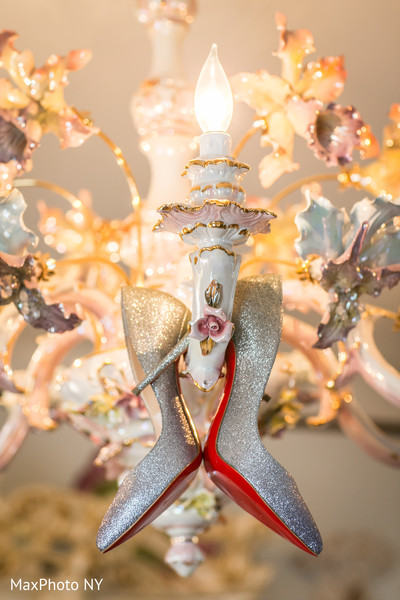 Christian louboutins in Richmond Hill, NY Indian Wedding by MaxPhoto NY