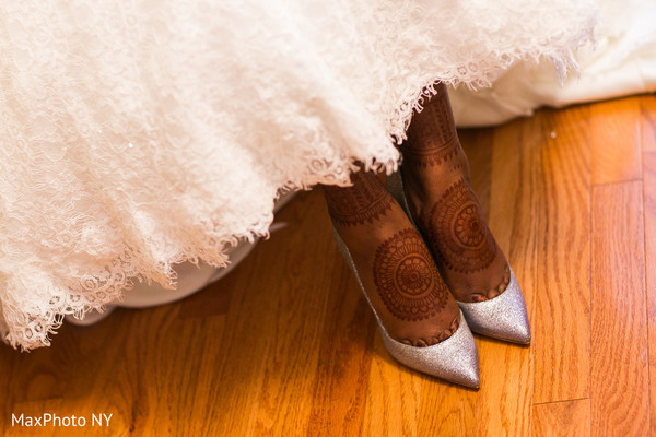 Wedding shoes in Richmond Hill, NY Indian Wedding by MaxPhoto NY