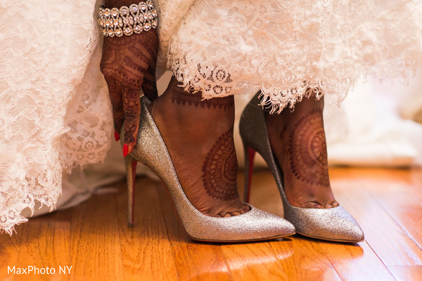 Louboutin wedding shoes in Richmond Hill, NY Indian Wedding by MaxPhoto NY