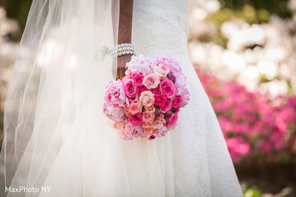 Bridal bouquet in Richmond Hill, NY Indian Wedding by MaxPhoto NY