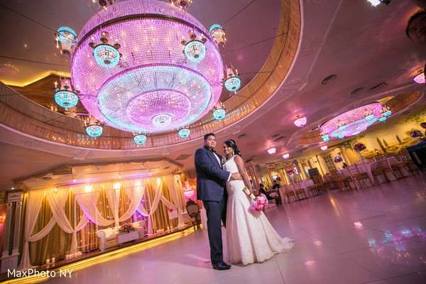 Indian wedding reception in Richmond Hill, NY Indian Wedding by MaxPhoto NY