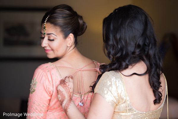Beautiful bride getting ready for the Wedding Ceremony in Santa Barbara, CA Indian Wedding by ProImage Weddings