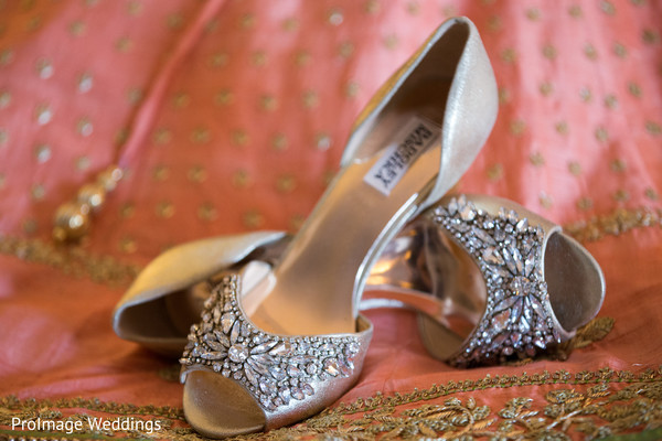 Beautiful Bridal Shoes in Santa Barbara, CA Indian Wedding by ProImage Weddings