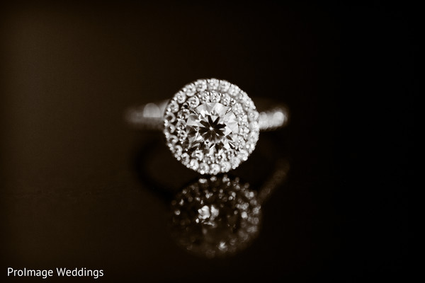 See the bride's beautiful ring in Santa Barbara, CA Indian Wedding by ProImage Weddings
