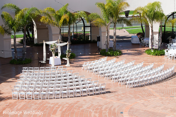 Beautiful outdoor setting for Indian wedding ceremony in Santa Barbara, CA Indian Wedding by ProImage Weddings