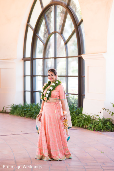 Indian Bride wearing a Beautiful Sari in Santa Barbara, CA Indian Wedding by ProImage Weddings