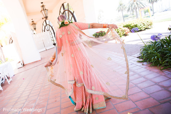 Beautiful Bride in her Sari in Santa Barbara, CA Indian Wedding by ProImage Weddings