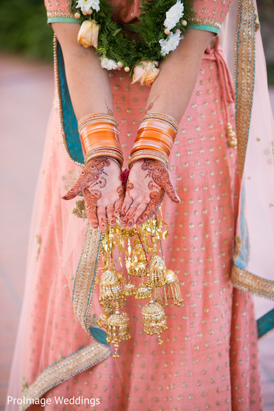Incredible Indian Bridal Details in Santa Barbara, CA Indian Wedding by ProImage Weddings