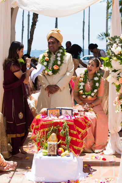 Lovely indian wedding ceremony in Santa Barbara, CA Indian Wedding by ProImage Weddings