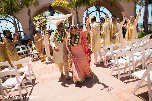 Congrats to the new Mr. and Mrs. in Santa Barbara, CA Indian Wedding by ProImage Weddings