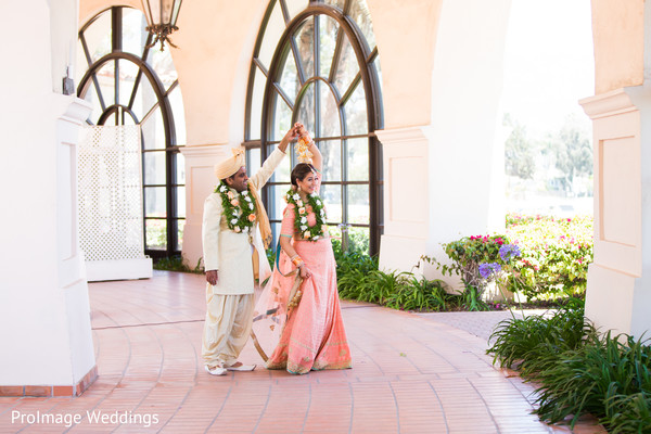Lovely Indian couple in their post ceremony photoshoot in Santa Barbara, CA Indian Wedding by ProImage Weddings