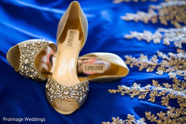 Beautiful bridal shoes in Santa Barbara, CA Indian Wedding by ProImage Weddings