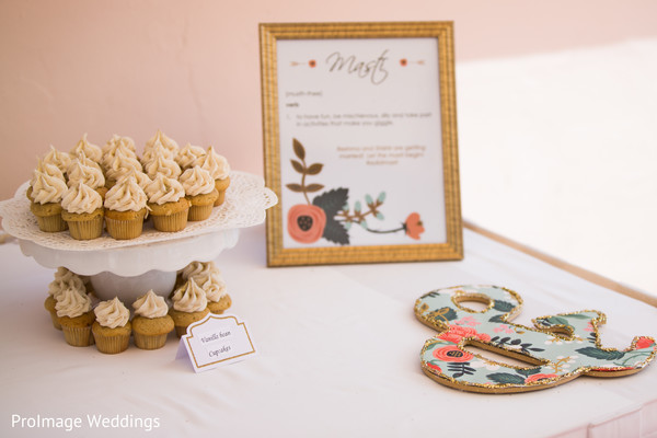 Lovely mini cupcakes for indian wedding ceremony in Santa Barbara, CA Indian Wedding by ProImage Weddings