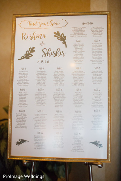 Lovely idea for seating charts at a wedding reception in Santa Barbara, CA Indian Wedding by ProImage Weddings