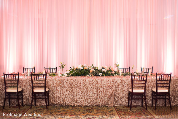 Beautiful floral arrangements for wedding in Santa Barbara, CA Indian Wedding by ProImage Weddings