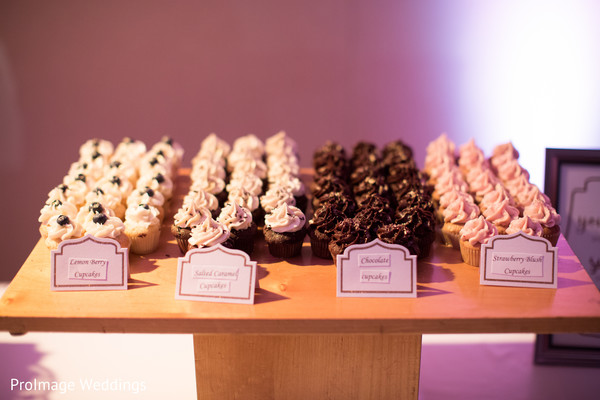 Lovely mini cupcakes in this indian wedding reception in Santa Barbara, CA Indian Wedding by ProImage Weddings