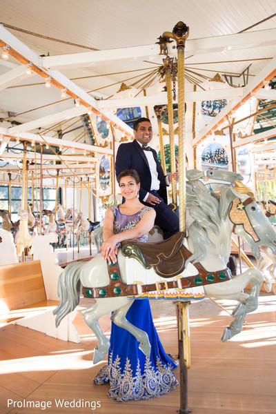 Beautiful Indian couple before their wedding reception in Santa Barbara, CA Indian Wedding by ProImage Weddings