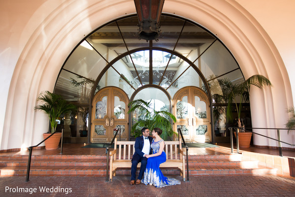 Beautiful Indian couple before their wedding reception in Santa Barbara, CA Indian Wedding by ProImage Weddings