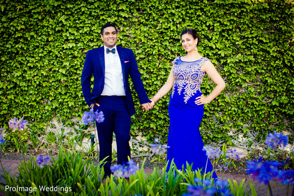 Lovely Indian couple in their wedding photoshoot in Santa Barbara, CA Indian Wedding by ProImage Weddings