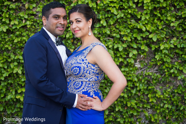 Lovely Indian couple in their pre-reception photoshoot in Santa Barbara, CA Indian Wedding by ProImage Weddings