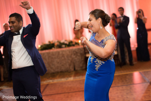 Indian bride dancing the night away in Santa Barbara, CA Indian Wedding by ProImage Weddings