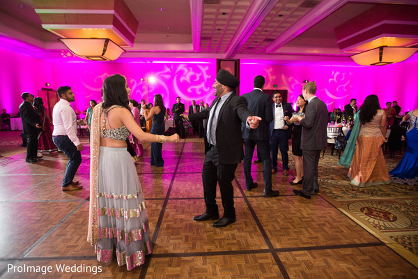 Indian wedding reception dance floor in Santa Barbara, CA Indian Wedding by ProImage Weddings