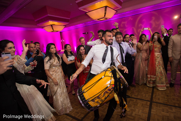 Getting the party started in this Indian wedding reception in Santa Barbara, CA Indian Wedding by ProImage Weddings