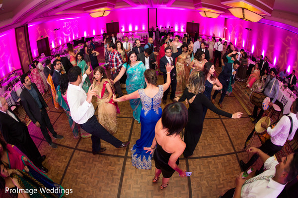 Lovely dance floor for indian wedding reception in Santa Barbara, CA Indian Wedding by ProImage Weddings