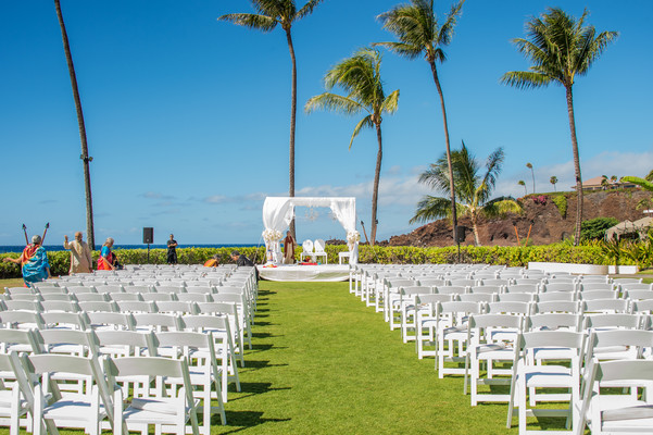 hawaiian indian wedding mandap