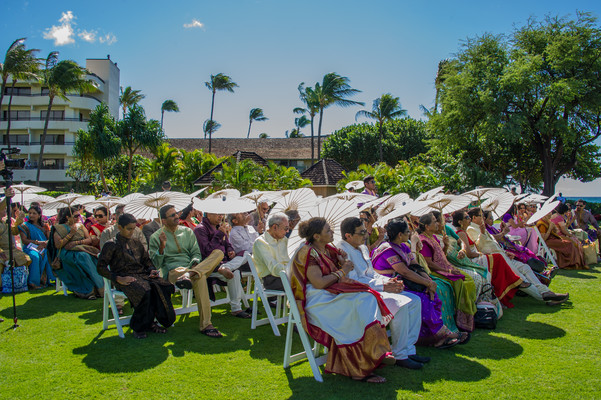 Watching an Indian Wedding Ceremony at the Sheraton Maui Resort & Spa in Starwood Hawaii Destination Indian Weddings