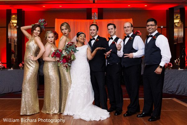 Wedding Party Portrait in Dallas, TX Indian Fusion Wedding by William Bichara Photography