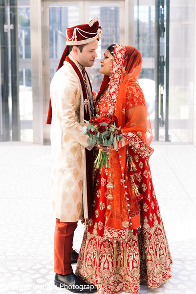 Indian Bride and Groom Portrait in Dallas, TX Indian Fusion Wedding by William Bichara Photography