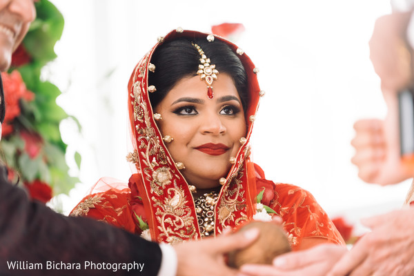 Indian Bridal Portrait in Dallas, TX Indian Fusion Wedding by William Bichara Photography
