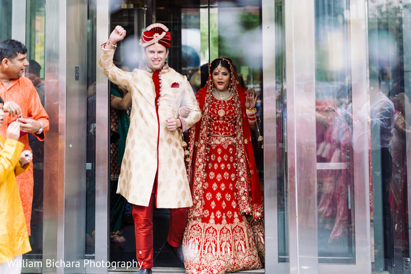 indian bride and groom portrait,indian fusion wedding day portrait
