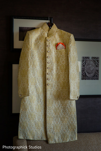 Portrait of indian groom wedding ceremony outfit. in Alexandria, VA Indian Wedding by Photographick Studios