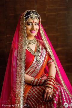 indian bride portrait,bridal lengha,indian bride style,indian bride fashion,indian bride make up